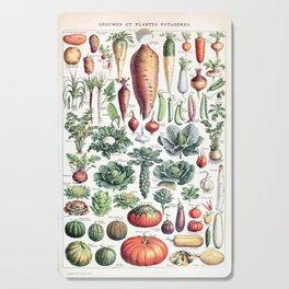 Adolphe Millot - Légumes pour tous - French vintage poster Cutting Board