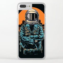 Rebel Astronout Clear iPhone Case