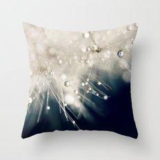 dandelion evening blue Throw Pillow