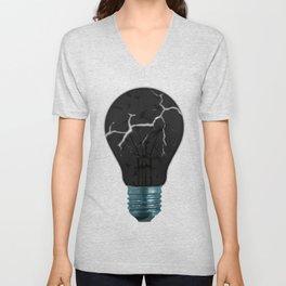 Broken Light Bulb Unisex V-Neck