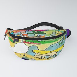 the nice goose and the winged dog Fanny Pack