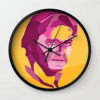han solo Wall Clocks featuring Han Solo by Jude Beavis
