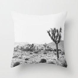 Joshua Tree Monochrome, No. 1 Throw Pillow