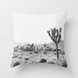 Joshua Tree Monochrome, No. 1 Throw Pillow