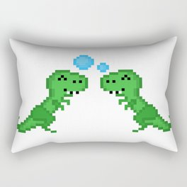 Dino Bubbles Rectangular Pillow