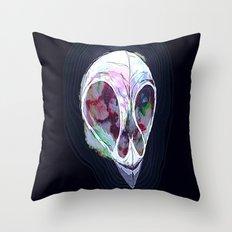 Pastel Skull Throw Pillow