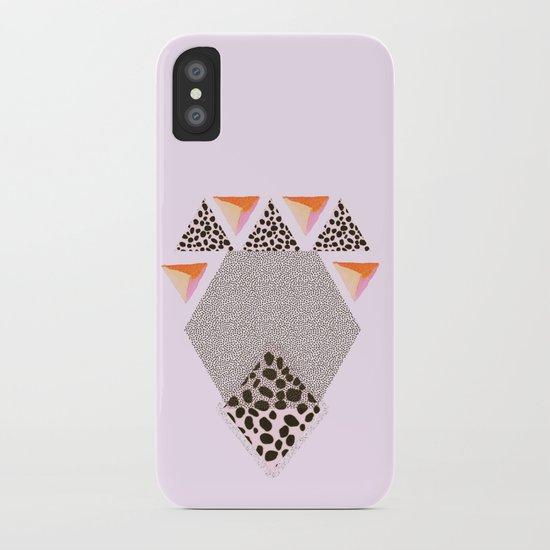 LEOPARD DIAMOND iPhone Case