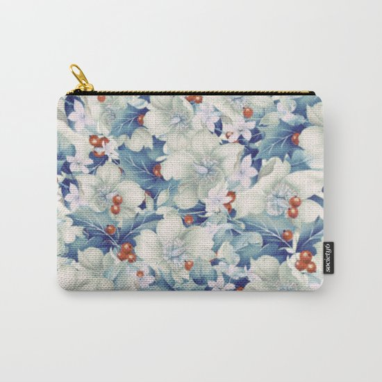flowers and red berries Carry-All Pouch