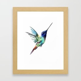 Flying Hummibgbird Framed Art Print