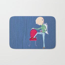 Martini angel of the evening Bath Mat