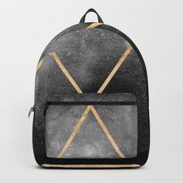Gold Moon Geometric Tribal Design Backpack