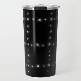 Black and White - Stars in Squares Travel Mug