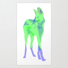 Maned Wolf Art Print