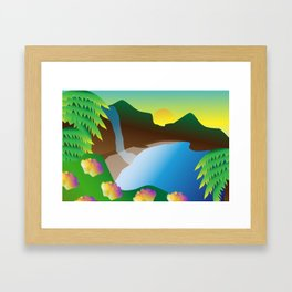 Waterfall #3 Framed Art Print
