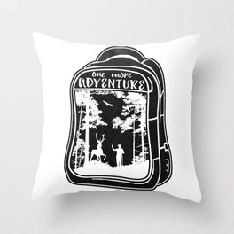 One More Adventure Throw Pillow