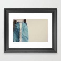 Doll Closet Series - Blue Dress Framed Art Print
