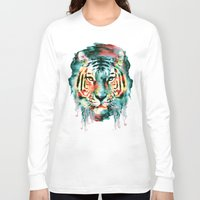 tiger Long Sleeve T-shirts featuring TIGER by RIZA PEKER