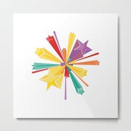 Colorful stars Metal Print