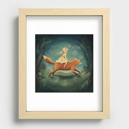 Fox Girl by Emily Winfield Martin Recessed Framed Print
