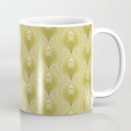 Light Green Floral Art Nouveau Inspired Pattern Coffee Mug