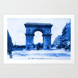 Vintage Postcard Dijon France Porte Guillaume Art Print