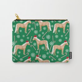 Palomino Horse Christmas - peppermint, candy cane, snowflake, christmas, green and red, santa Carry-All Pouch