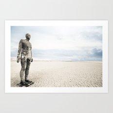 Crosby Beach Man  Art Print