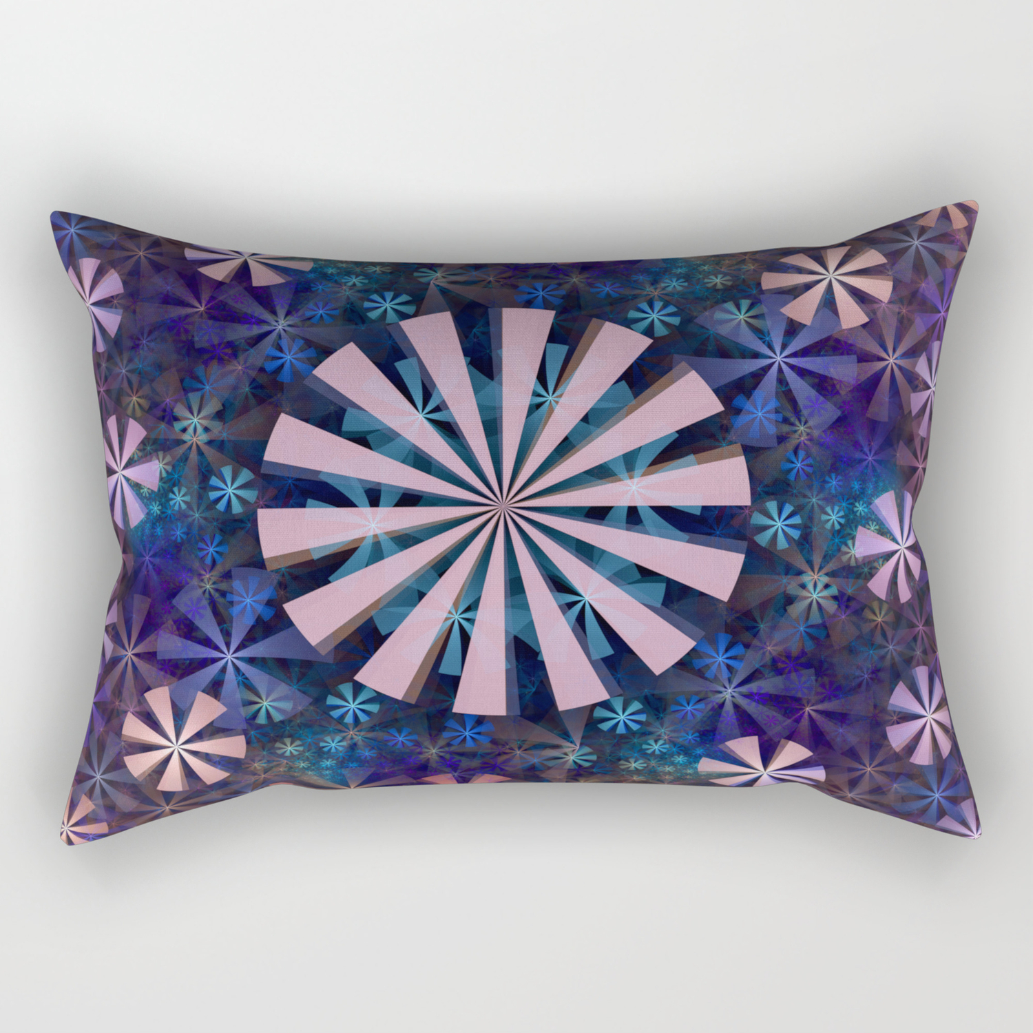 A Million Flowers Fractal Pattern Abstract Rectangular Pillow By Walstraasart Society6