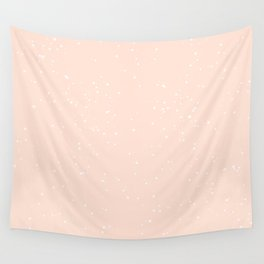 white and orange speckle Wall Tapestry