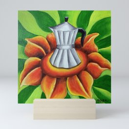 Coffe maker (Cuban cafetera). Miguez art Mini Art Print
