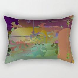 Retro Kimono Rectangular Pillow
