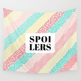 No Spoilers in color Wall Tapestry