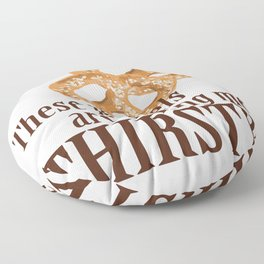These pretzels are making my thirsty! Floor Pillow