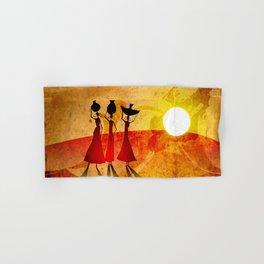 Africa retro vintage style design illustration Hand & Bath Towel