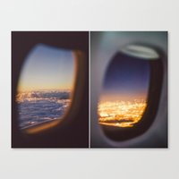 planes Canvas Prints featuring Planes by Amanda Lily
