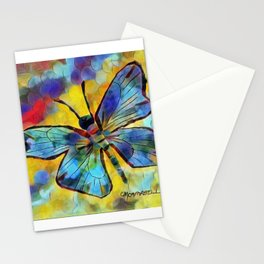 """"""" Rainbow Butterfly """" Stationery Cards"""