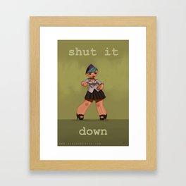 Shut It Down Framed Art Print
