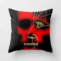 hannibal Throw Pillows featuring Hannibal by Fan Prints