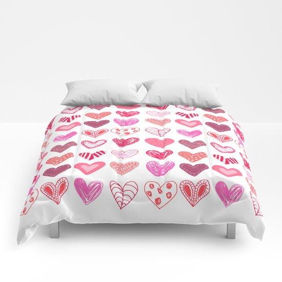 Many Hearts Comforters