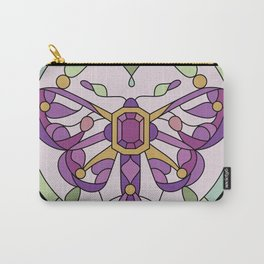 Moth - Stained Glass - Purple Version Carry-All Pouch