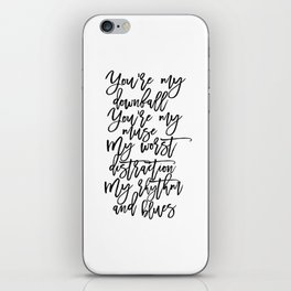 Love Sign,I Love You,Gift For Her,Wall Art,Gift For Him,Song Lyrics,Quote Prints,Husband Gift iPhone Skin