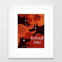 reservoir dogs Framed Art Prints featuring Reservoir Dogs by grrrenadine