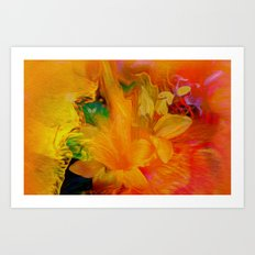Flowers From My Heart To You   Art Print