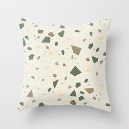 Sage Cactus Green Tan Brown Terrazzo #1 #decor #art #society6 Throw Pillow