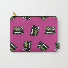 Bride of Frankie Repeat Toss in Lipstick Magenta Carry-All Pouch