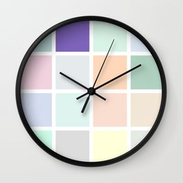 bright tones of colour Wall Clock