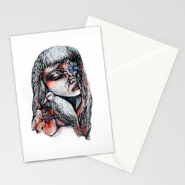 Death and Dahlia Stationery Cards