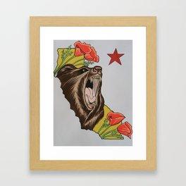 Cali pride Framed Art Print