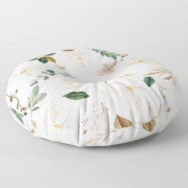Magnolia Watercolor Floral Floor Pillow