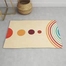 Abstract planet colour Rug